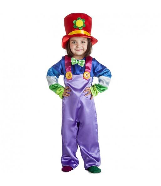 Déguisement Clown pourpre garçon