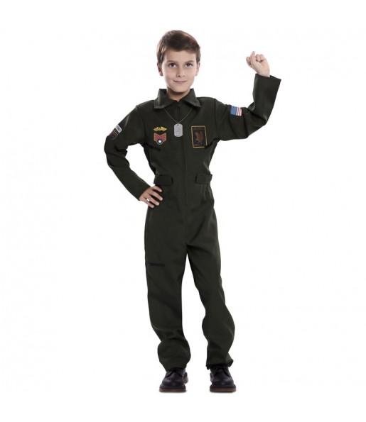 Déguisement Pilote de Chasse garçon