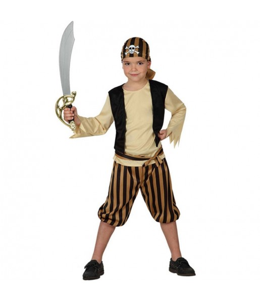 Déguisement Pirate Tête de Mort pour garçon