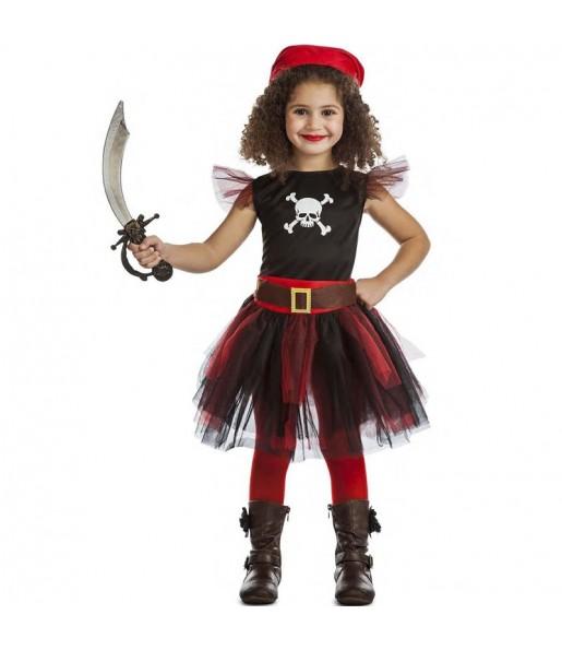 Déguisement Pirate avec tulle fille