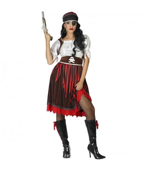 Déguisement Pirate femme à rayures