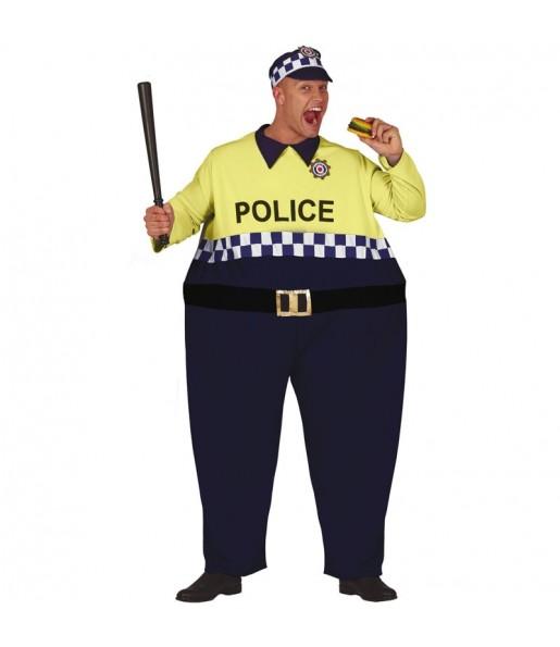 Déguisement Gros Policier homme
