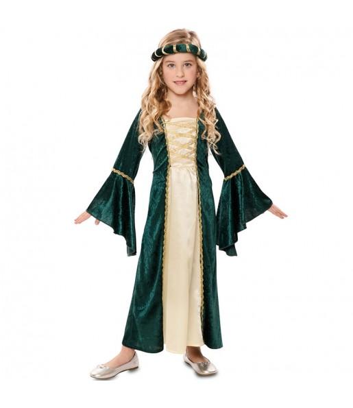 Déguisement Princesse Royale Verte fille