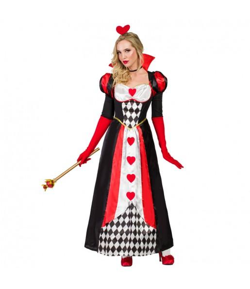 Déguisement Reine de Coeur Deluxe pour femme