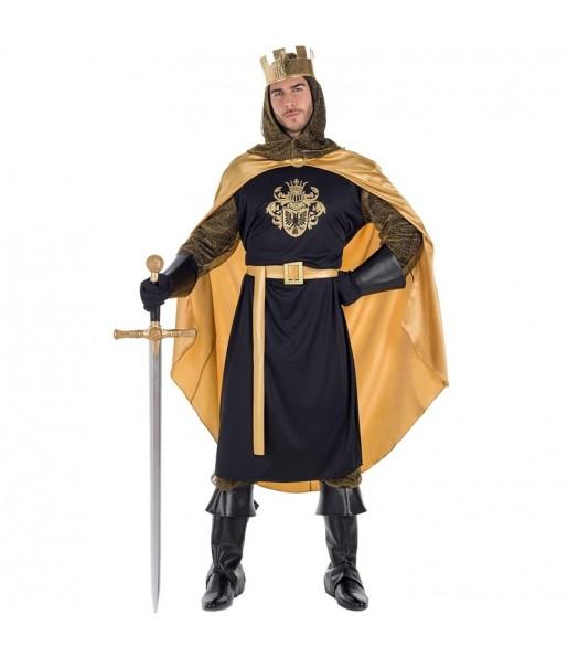 Déguisement Roi Médiéval Doré pour homme
