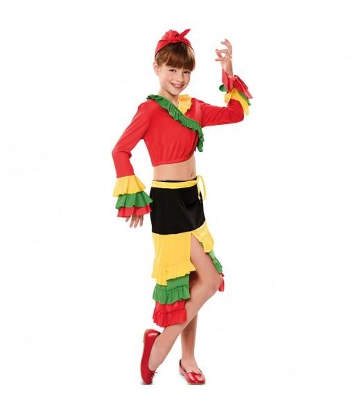 Déguisement Danseuse Rumba Rouge fille