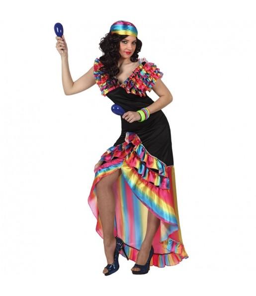Déguisement Danseuse Rumba Multicolore femme