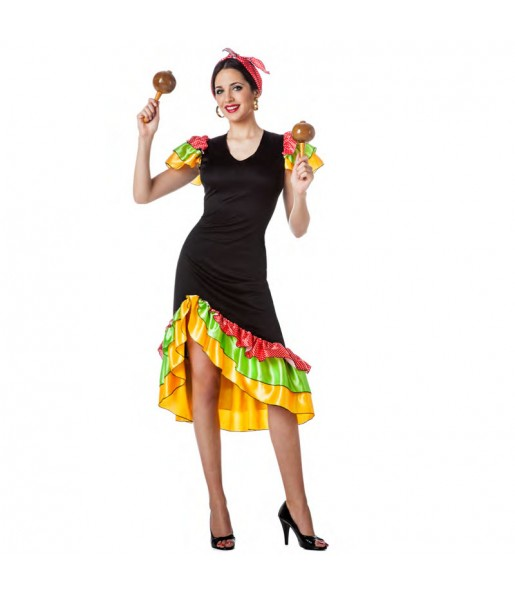 Déguisement Danseuse Rumba Salsa pour femme