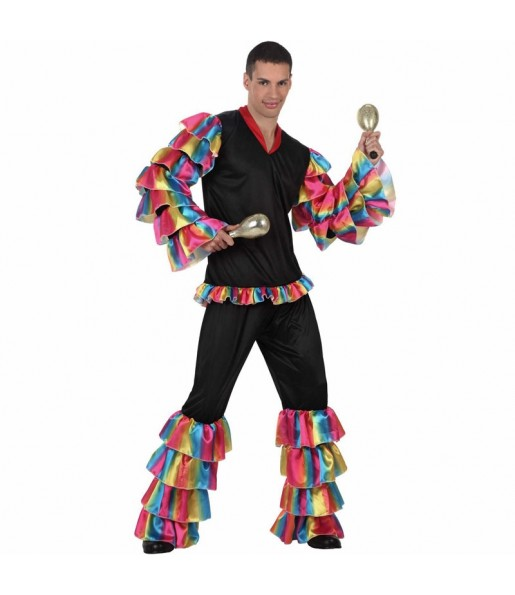 Déguisement Danseur Rumba Multicolore homme