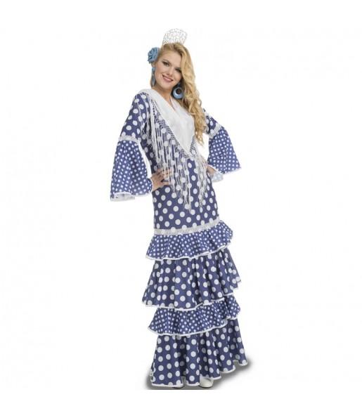 Déguisement Danseuse Flamenco Bleu femme