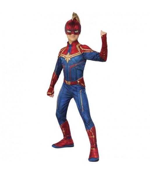 Déguisement Super-héroïne Captain Marvel fille