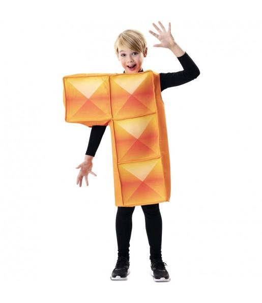Déguisement Tetris Orange enfant