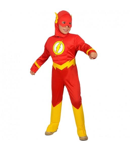 Déguisement The Flash musclé garçon