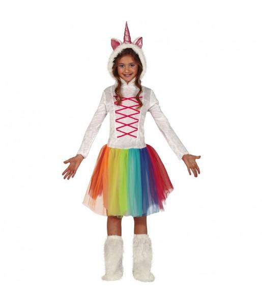 Déguisement Licorne Multicolore fille