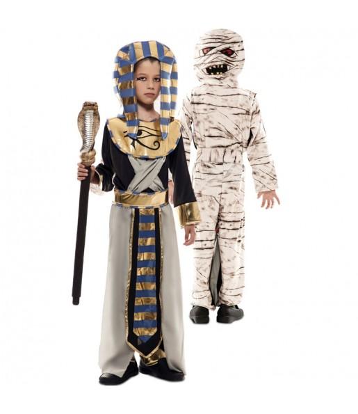 Déguisement double Égyptien et Momie enfant