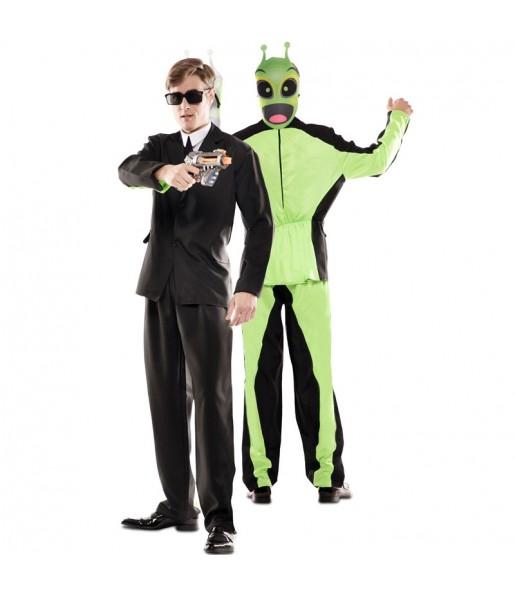 Déguisement double Men in Black et Alien adulte