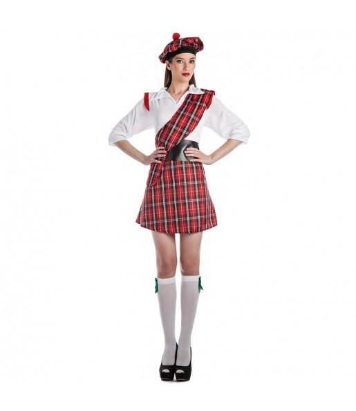 Déguisement Écossaise rouge pour femme