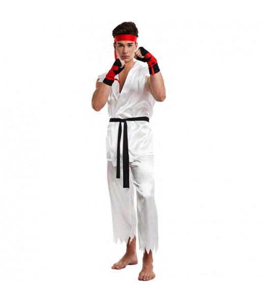 Déguisement Lutteur Karate Ryu pour homme