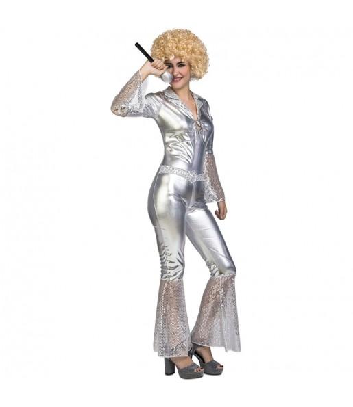 Déguisement Disco Dancing Argent femme