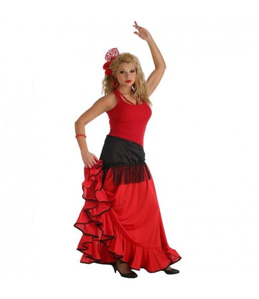 Jupe Flamenco rouge