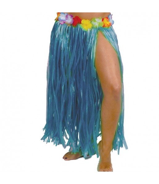 Jupe Hawaï longue Bleue