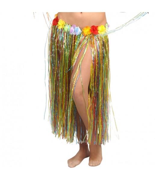 Jupe Hawaï longue Multicolore