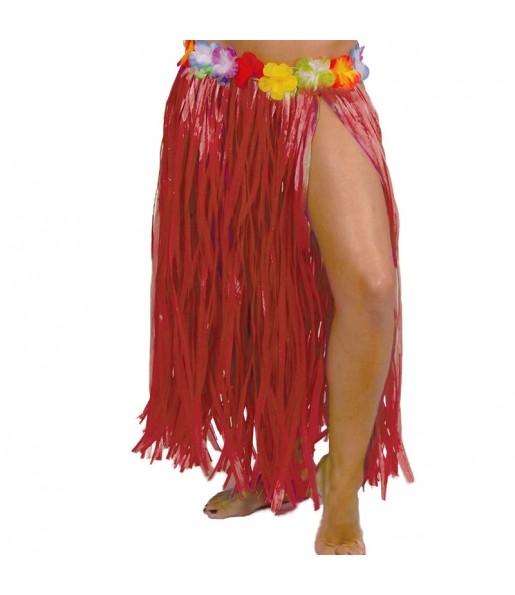 Jupe Hawaï longue Rouge