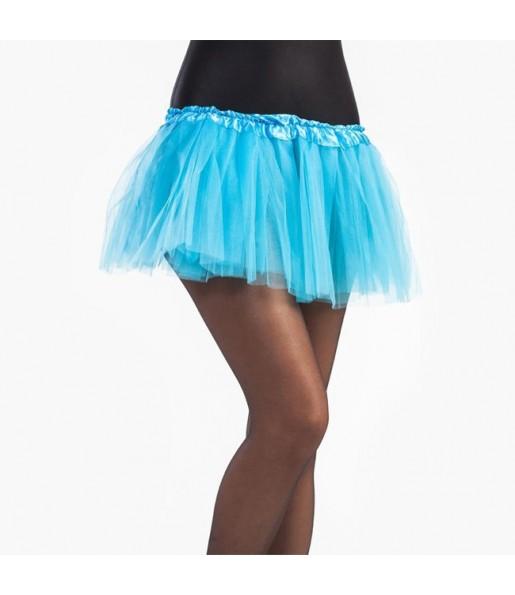 Falda tutú azul celeste niña
