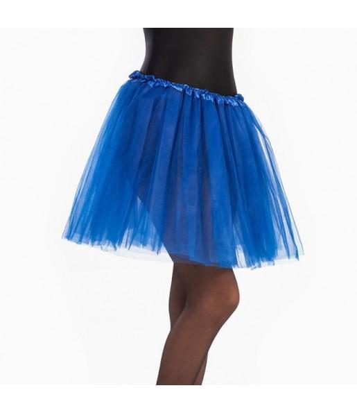 Falda tutú azul mujer