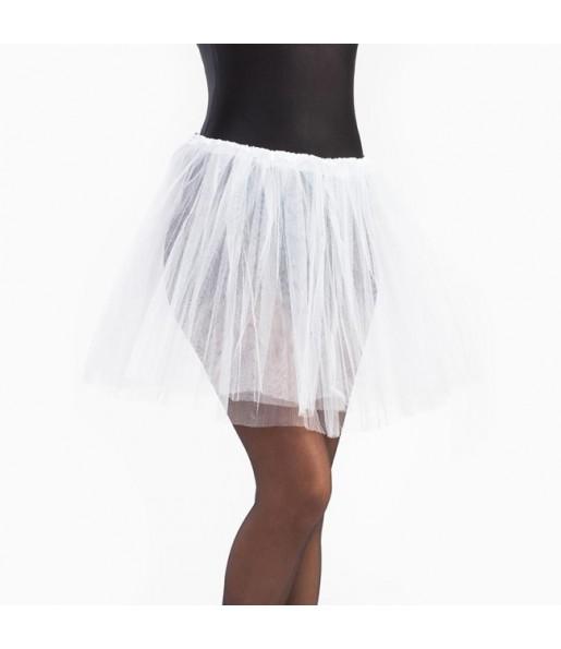 Falda tutú blanco mujer