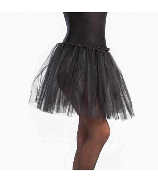 Falda tutú negro mujer
