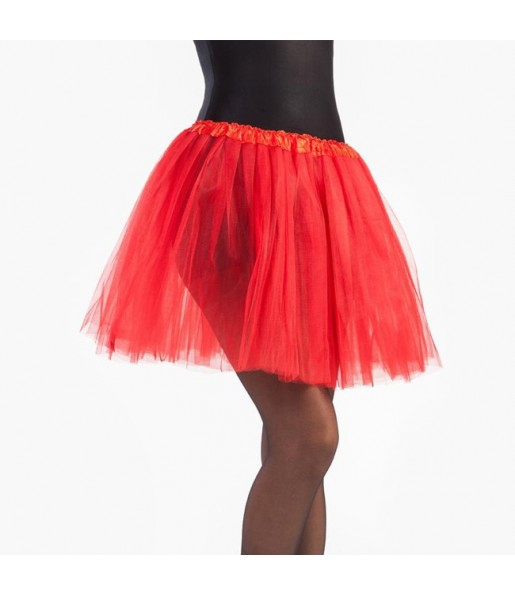 Falda tutú rojo mujer