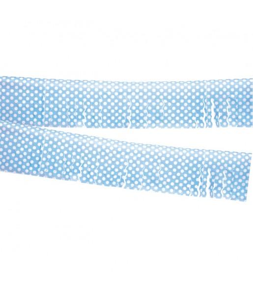 Guirlande à franges bleues à pois