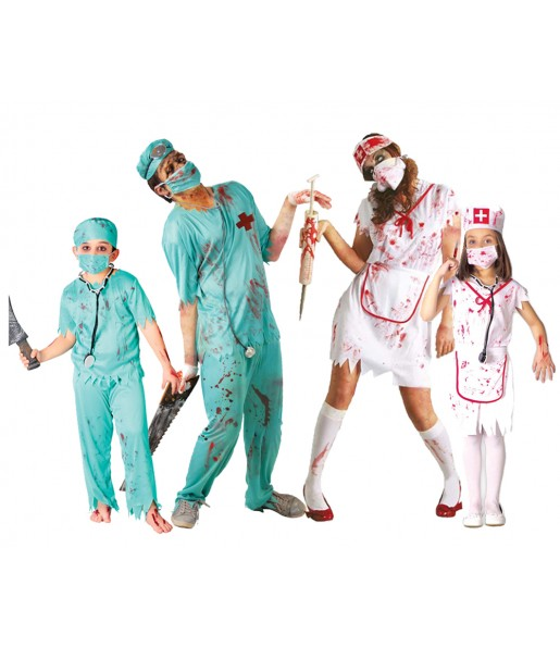 Groupe Chirurgiens et Infirmières Zombies
