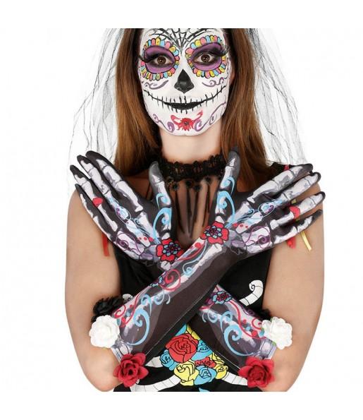 Gants Squelette Catrina