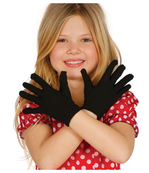 Gants noirs enfants