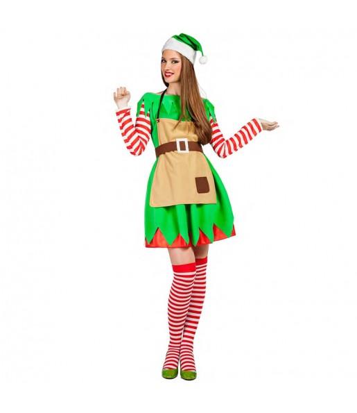 Déguisement Elfe Noël pour femme