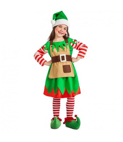 Déguisement Elfe Noël pour fille