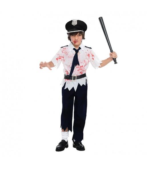 Déguisement Policier Zombie Halloween Enfant
