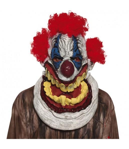 Masque géant clown maléfique avec cheveux
