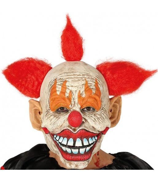 Masque Clown Sinistre avec cheveux