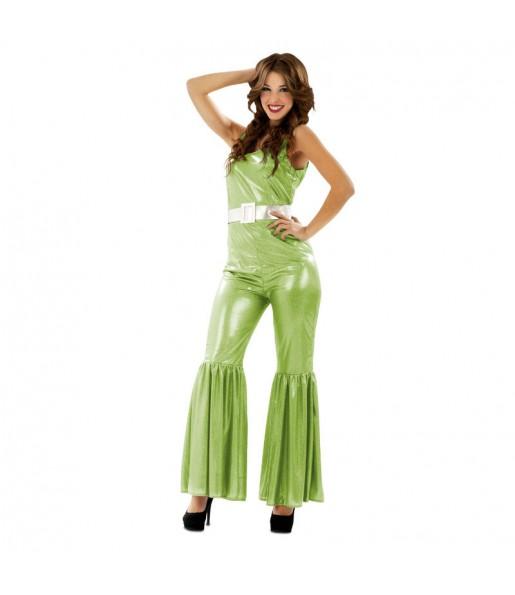 Déguisement Femme Disco Verte