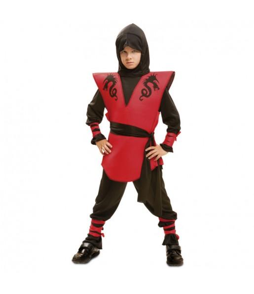 Déguisement Ninja Dragon Rouge