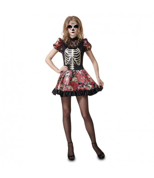 Déguisement Squelette Méxicain Femme