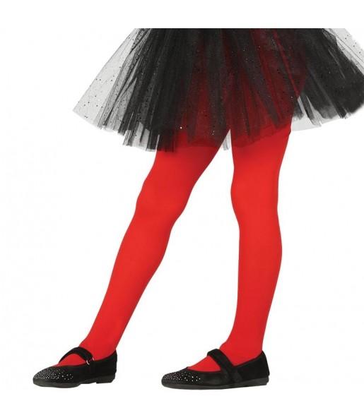 Collants rouges pour filles