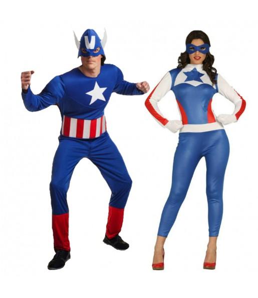 Déguisements Capitains America Superhéros