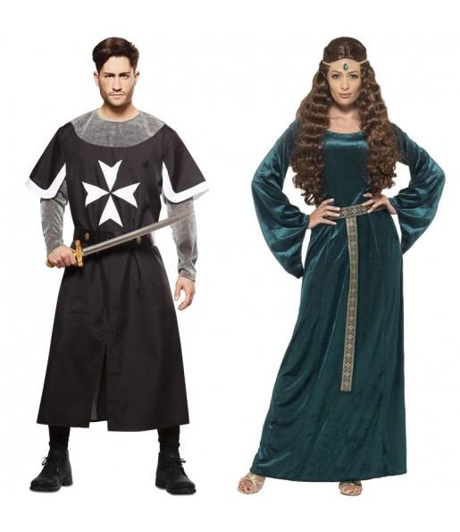 Déguisements Croisé Médiéval Noir et Reine Médiévale