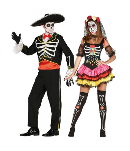 Déguisement Squelettes Jour des Morts