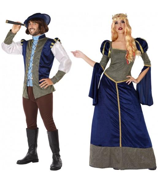 Déguisements Princes Médiévaux Bleus