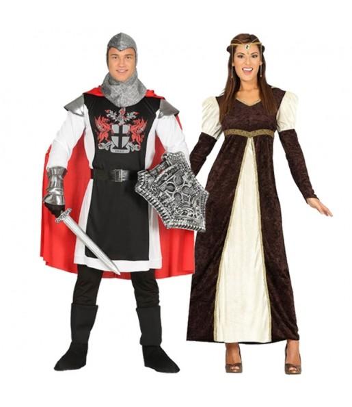 Déguisements Templier Médiéval et Princesse de la Cour